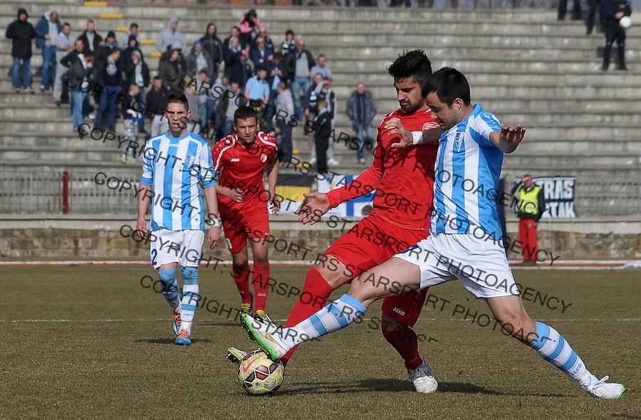 FK Radnicki 1923-FK Spartak, stadion Cika Daca, Kragujevac, 21.02.2015.<br /> <br /> Milovanovic Dragan 7, Antonic Goran 17