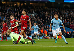 Manchester City's Gabriel Jesus celebrates scoring his sides opening goal during the Champions League Quarter Final 2nd Leg match at the Etihad Stadium, Manchester. Picture date: 10th April 2018. Picture credit should read: David Klein/Sportimage