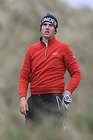 Adam Smith (Mullingar) on the 13th tee during Round 2 of the Ulster Boys Championship at Portrush Golf Club, Portrush, Co. Antrim on the Valley course on Wednesday 31st Oct 2018.<br /> Picture:  Thos Caffrey / www.golffile.ie<br /> <br /> All photo usage must carry mandatory copyright credit (&copy; Golffile | Thos Caffrey)