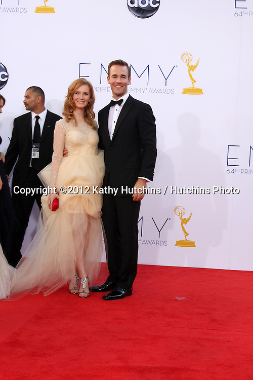 LOS ANGELES - SEP 23:  James Van Der Beek arrives at the 2012 Emmy Awards at Nokia Theater on September 23, 2012 in Los Angeles, CA