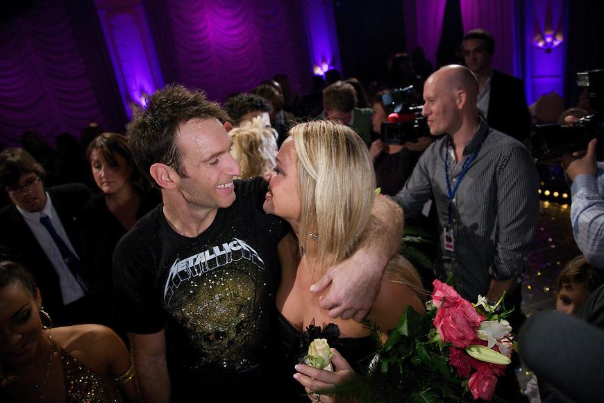 Oslo, 20091121. Skal vi danse, finalen. Carsten og kjæresten