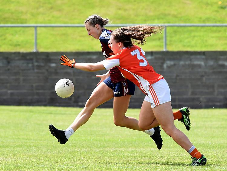 Westmeath Johanna Maher Armagh Clodagh McCambridge. Photo:Colin Bell/pressphotos.ie