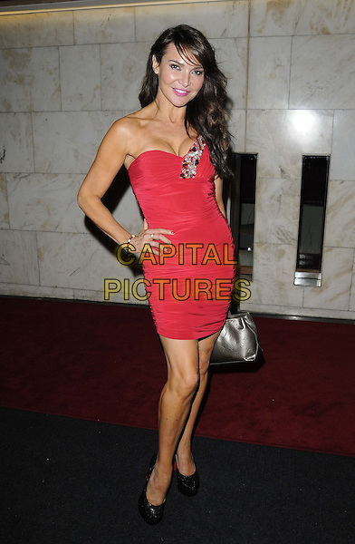 Lizzie Cundy.The British Inspiration Awards, InterContinental Hotel, Park Lane, London, England..May 24th, 2012.full length white strapless dress hand on hip.CAP/CAN.©Can Nguyen/Capital Pictures.