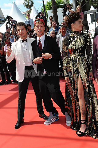 Shia LaBeouf, Raymond Coalson and Sasha Lane at the &acute;American Honey` screening during The 69th Annual Cannes Film Festival on May 15, 2016 in Cannes, France.<br /> CAP/LAF<br /> &copy;Lafitte/Capital Pictures /MediaPunch ***NORTH AND SOUTH AMERICA ONLY***