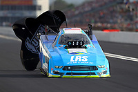 Apr 22, 2017; Baytown, TX, USA; NHRA funny car driver Tim Wilkerson during qualifying for the Springnationals at Royal Purple Raceway. Mandatory Credit: Mark J. Rebilas-USA TODAY Sports