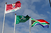 9th September 2017, Galway Sportsground, Galway, Ireland; Guinness Pro14 Rugby, Connacht versus Southern Kings; The Galway, Connacht and South Africa flags fly over The Sportsgrounds as Connacht welcome the Southern Kings