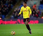 Watford's Andre Carrillo in action during the premier league match at Selhurst Park Stadium, London. Picture date 12th December 2017. Picture credit should read: David Klein/Sportimage