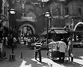 TURKEY, Istanbul, people walking near Grand Bazaar (B&W)