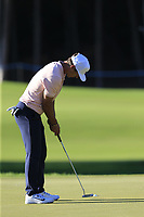 Thorbjorn Olesen (DEN) putts on the 16th green during Friday's Round 2 of the 2018 Turkish Airlines Open hosted by Regnum Carya Golf &amp; Spa Resort, Antalya, Turkey. 2nd November 2018.<br /> Picture: Eoin Clarke | Golffile<br /> <br /> <br /> All photos usage must carry mandatory copyright credit (&copy; Golffile | Eoin Clarke)