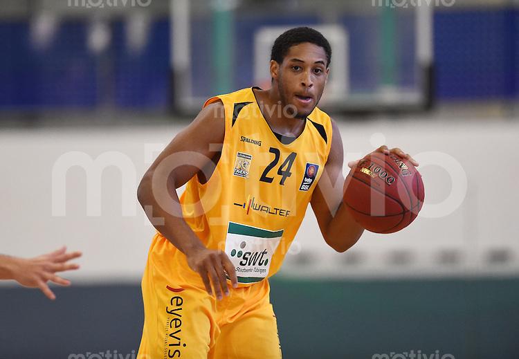 Basketball 1. Bundesliga 2013/2014 Testspiel 02.09.2014 Walter Tigers Tuebingen - MLP Academics Heidelberg Augustine Rubit (Tigers) mit Ball