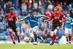 05.05.2018 Rangers v Kilmarnock: Alfredo Morelos with Aaron Tshibola and Iain Wilson