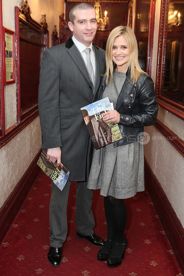 """NO REPRO FEE. 17/1/2010. The Field opening night. Karen Koster and John Mc Guire are pictured at the Olympia Theatre for the opening night of John B Keanes 'The Field"""" Picture James Horan/Collins"""