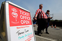 A sign outside Lincoln City's Sincil Bank Stadium says the Imps' game against Tranmere Rovers is sold out<br /> <br /> Photographer Chris Vaughan/CameraSport<br /> <br /> The EFL Sky Bet League Two - Lincoln City v Tranmere Rovers - Monday 22nd April 2019 - Sincil Bank - Lincoln<br /> <br /> World Copyright © 2019 CameraSport. All rights reserved. 43 Linden Ave. Countesthorpe. Leicester. England. LE8 5PG - Tel: +44 (0) 116 277 4147 - admin@camerasport.com - www.camerasport.com
