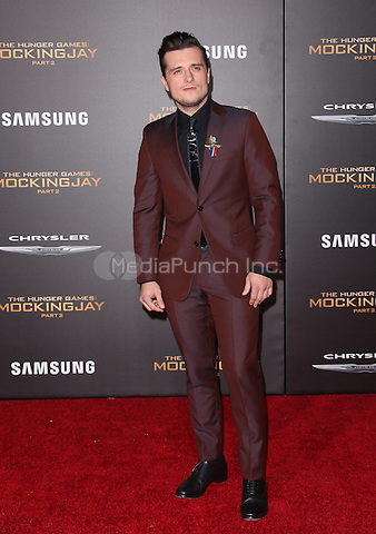 "Los Angeles, CA - November 16  Josh Hutcherson Attending Premiere Of Lionsgate's ""The Hunger Games: Mockingjay - Part 2"" At Microsoft Theater On November 16, 2015. Photo Credit: Faye Sadou / MediaPunch"