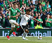 June 11th 2017, Dublin, Republic Ireland; 2018 World Cup qualifier, Republic of Ireland versus Austria;  James McClean of Ireland in action against David Alaba of Austria
