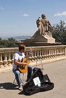 Spanien, Barcelona, vor dem Palau Nacional auf dem Montjuic