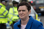 © Joel Goodman - 07973 332324. 24/03/2018. Birmingham, UK. For Britain party leader ANNE-MARIE WATERS at a Football Lads Alliance demonstration against Islam and extremism in Birmingham City Centre . Offshoot group, The True Democratic Football Lads Alliance, also hold a separate demonstration . Photo credit : Joel Goodman