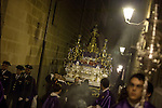 "Holy Week procession the Cofradia, ""the poor"" Jesus of Nazareth, through the oldest streets of Madrid."