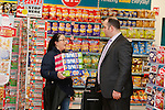 Staff members help the shoppers at the opening of the Dealz new store in Mulling Co West Meath.<br /> <br /> Picture Newsfile/Professional Images