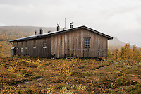 STF Serve hut in autumn, Kungsleden trail, Lapland, Sweden