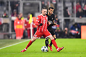 December 5th 2017, Allianze Arena, Munich, Germany. UEFA Champions league football, Bayern Munich versus Paris St Germain;  32 DANI ALVES (psg)challenges Franck RIBERY (bay)