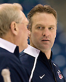 (Blais) Mark Osiecki (USA - Assistant Coach) - Team USA practices the morning of Saturday, December 26, 2009, at the Credit Union Centre in Saskatoon, Saskatchewan, during the 2010 World Juniors tournament.