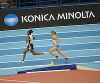 Photo: Ady Kerry/Richard Lane Photography..Aviva Grand Prix. 21/02/2009. .Zakia Mrisho and Jessica Augusto 3000m