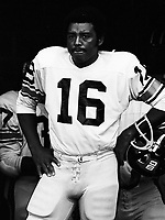 Karl Douglas BC Lions quarterback 1974 Copyright photograph Scott Grant/