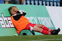 A Gillingham ball boy couldn't bear to watch in the second half as Burton win 2-1 at Priestfield during Gillingham vs Burton Albion, Sky Bet EFL League 1 Football at The Medway Priestfield Stadium on 10th August 2019