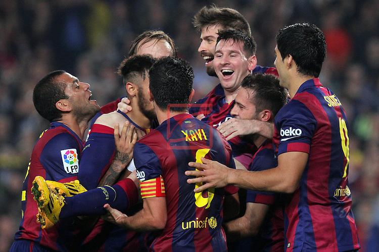 League BBVA 2014/2015. Game: 12.<br /> FC Barcelona vs Sevilla FC: 5-1.<br /> Lionel Messi.