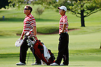 CHICAGO, IL - SEPTEMBER 19:  Conrad Ray and David Chung of the Stanford Cardinal during the Fighting Illini Invitational on September 19, 2009 at the Olympia Fields Country Club in Chicago, Illinois.