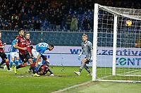 Davide Biraschi of Genoa own goal  during  Genoa -   Napoli Stadio Luigi Ferraris, Genoa, Italy; Serie A football 10th November 2018