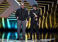 "LOS ANGELES - DECEMBER 6: Woody Jackson (L) accepts the Best Score/Music (Presented by Spotify) award for ""Red Dead Redemption 2"" at the 2018 Game Awards at the Microsoft Theater on December 6, 2018 in Los Angeles, California. (Photo by Frank Micelotta/PictureGroup)"