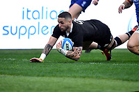 Try of Tj Perenara All Blacks.<br /> Roma 24-11-2018  Stadio Olimpico,<br /> Rugby Cattolica Test Match 2018<br /> Italia vs Nuova Zealanda / Italy vs New Zealand <br /> Photo Antonietta Baldassarre / Insidefoto