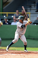 Beloit Snappers shortstop Melvin Mercedes (2) at bat during a game against the Clinton LumberKings on August 17, 2014 at Ashford University Field in Clinton, Iowa.  Clinton defeated Beloit 4-3.  (Mike Janes/Four Seam Images)