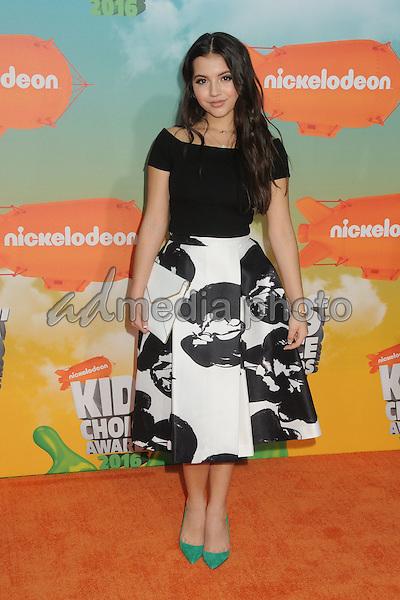 12 March 2016 - Inglewood, California - Isabela Moner. 2016 Nickelodeon Kids' Choice Awards held at The Forum. Photo Credit: Byron Purvis/AdMedia