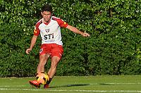 SAO PAULO, 10 DE JUNHO DE 2013 - TREINO SAO PAULO - O jogador Oswaldo durante treino do Sao Paulo, no CT da Barra Funda, na tarde desta segunda feira, 10, região oeste da capital. (FOTO: ALEXANDRE MOREIRA / BRAZIL PHOTO PRESS)