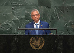 72 General Debate – 20 September <br /> <br /> Address by His Excellency Pravind Kumar Jugnauth, Prime Minister, Minister for Home Affairs, External Communications and National Development Unit, Minister for Finance and Economic Development of the Republic of Mauritius