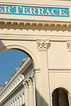 Architectural detail of luxury development designed by John Nash in Chester Terrace, Regent's Park, London