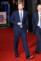 Prince Harry at the Virgin Money Giving Mind Media Awards at the Odeon Leicester Square, London, UK. <br /> 13 November  2017<br /> Picture: Steve Vas/Featureflash/SilverHub 0208 004 5359 sales@silverhubmedia.com