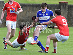 Laois Finbar Crowley Louth Ian Connor and Brendan Matthews. Photo:Colin Bell/pressphotos.ie