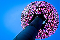 The New Year's Eve Ball is tested for celebrations on New Year Eve 2012 in New York City. 12/30/11.  Photo by Eduardo Munoz Alvarez / VIEWpress.