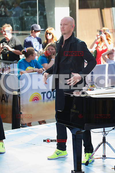 NEW YORK,NY - AUGUST 13: The Fray perform on NBC's Today Show Toyota Concert Series at Rockefeller Center in New York City. August 13, 2012. Credit:  mpi44/MediaPunch Inc.
