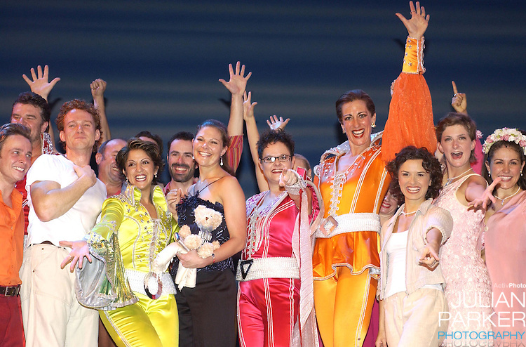 Crown Princess Victoria of Sweden attends a performance of 'Mamma Mia' at Her Majesty's Theatre, Melbourne, and afterwards met with the cast at an aftershow reception. During her visit to promote 'Swedish Style In Australia'..