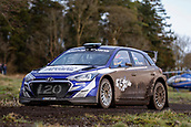 10th February 2019, Galway, Ireland; Galway International Rally; Meirion Evans and Jonathan Jackson (Hyundai i20 R5) finished just outside the top 10, claiming 11th overall