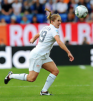 Rachel Buehler of team USA during the FIFA Women's World Cup at the FIFA Stadium in Sinsheim, Germany on July 2nd, 2011.