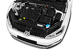 Car Stock 2015 Volkswagen Golf Alltrack 5 Door Wagon Engine  high angle detail view
