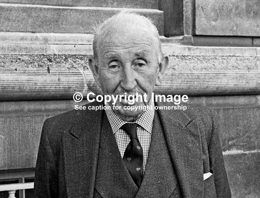 Lord Brookeborough, politician, Ulster Unionist, former prime minister, N Ireland, pictured at Parliament Buildings, Stormont, Belfast, June 1967. 1967060153a<br /> <br /> Copyright Image from Victor Patterson, 54 Dorchester Park, Belfast, UK, BT9 6RJ<br /> <br /> t1: +44 28 9066 1296<br /> t2: +44 28 9002 2446<br /> m: +44 7802 353836<br /> <br /> e1: victorpatterson@me.com<br /> e2: victorpatterson@gmail.com<br /> <br /> IMPORTANT: My Terms and Conditions of Business are at www.victorpatterson.com