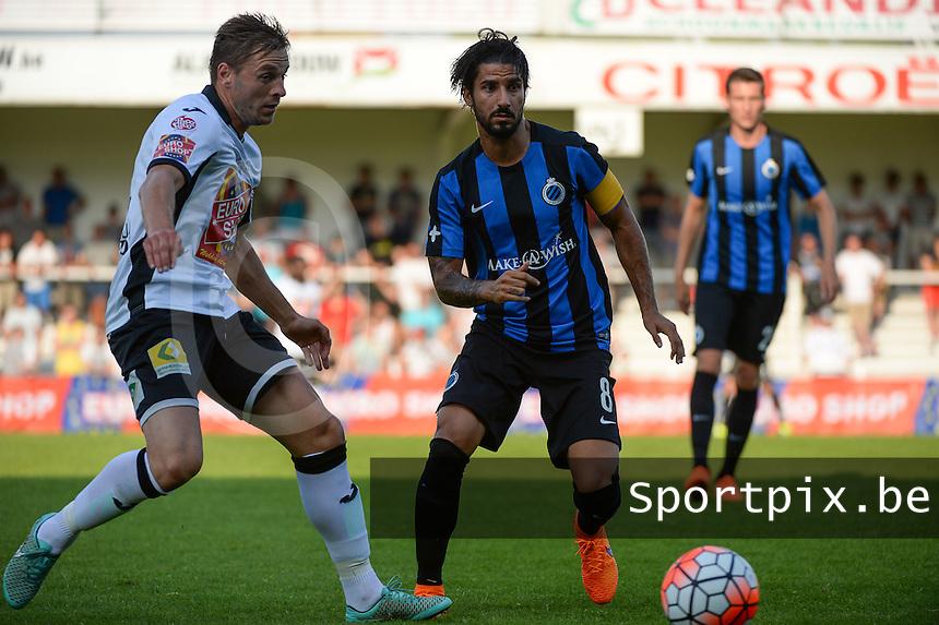KSV Roeselare - Club Brugge KV : duel tussen Vincent Provoost (l) en Lior Refaelov (r) <br /> foto VDB / BART VANDENBROUCKE