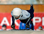 15 December 2006: Bree Schaaf Boyer from the USA, starts her run at the FIBT Women's World Cup Skeleton Competition at the Olympic Sports Complex on Mount Van Hoevenburg  in Lake Placid, New York, USA. &amp;#xA;&amp;#xA;Mandatory Photo credit: Ed Wolfstein Photo<br />